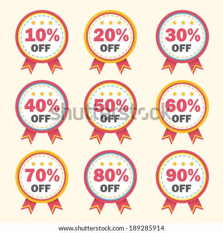 vector business tag set and sale label elements - stock vector