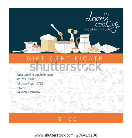 Restaurant Kitchen Illustration vector business template hand drawn kitchen stock vector 296413208
