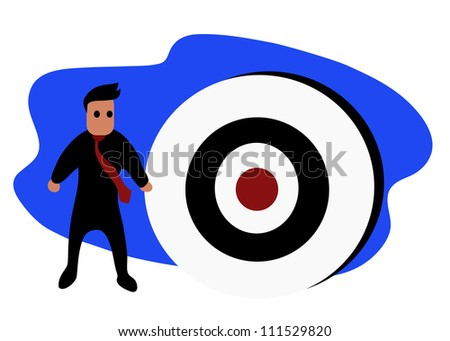 Vector - Businessman and target of business.