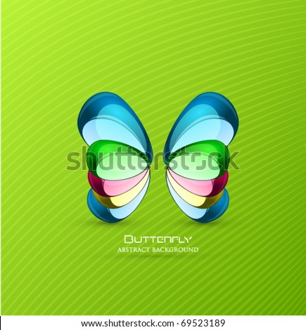 Vector butterfly background - stock vector
