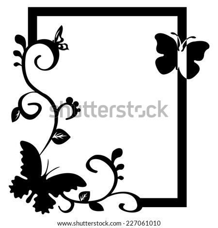 Vector Butterfly Frame Stock Vector HD (Royalty Free) 227061010 ...
