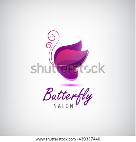Butterfly logo stock images royalty free images vectors for Abstract beauty salon