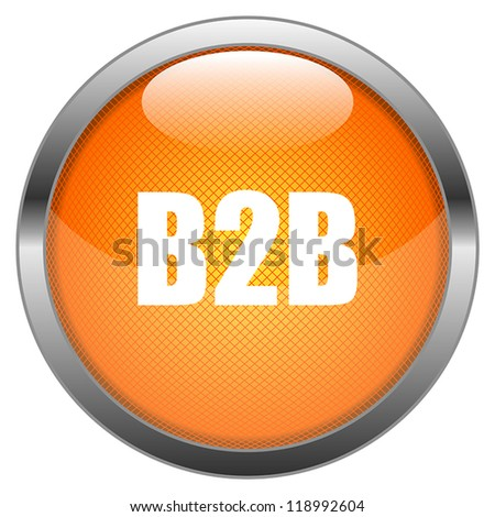 Vector Button B2B - stock vector