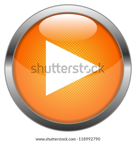 Vector Button Play - stock vector