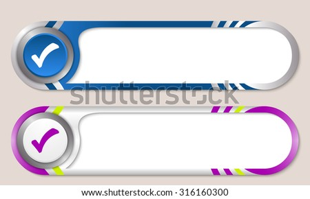 Vector buttons for your text and check box - stock vector