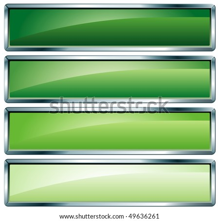 vector buttons in green colors - stock vector