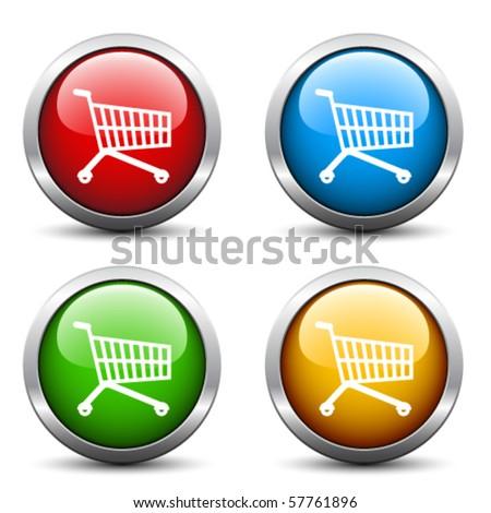 Vector buy buttons - stock vector