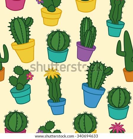 Vector Cactus Design Template Set Elements Stock Vector 340694633 ...
