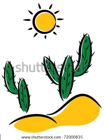 vector cactus desert clipart stock vector 72000835 shutterstock rh shutterstock com desert clipart black and white dessert clip art pictures