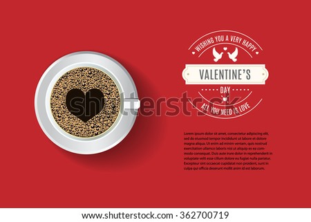 Vector Cafe Menu Flyer, Advertisement, Menu Template. Valentineu0027s Day  Greeitng With Sample Text