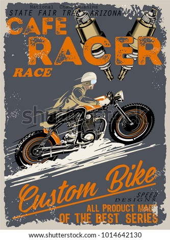 Vector Cafe Racer Poster
