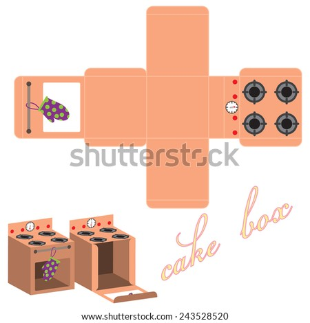 Cake Box Design Vector : MariyaF s Portfolio on Shutterstock