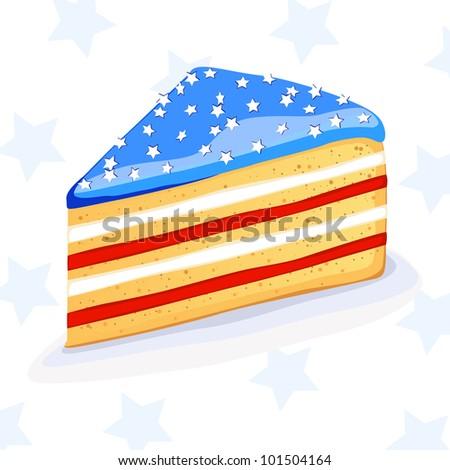 Vector cake in american style - stock vector