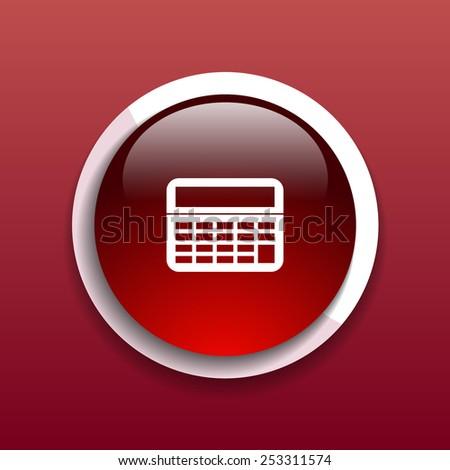 Vector Calculator Icon website isolated display, mathematics - stock vector