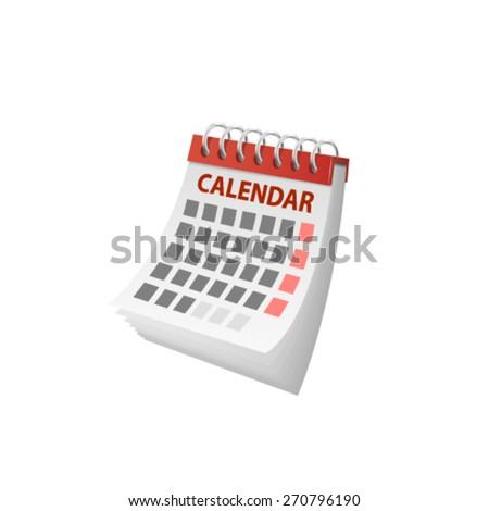 Vector calendar. - stock vector