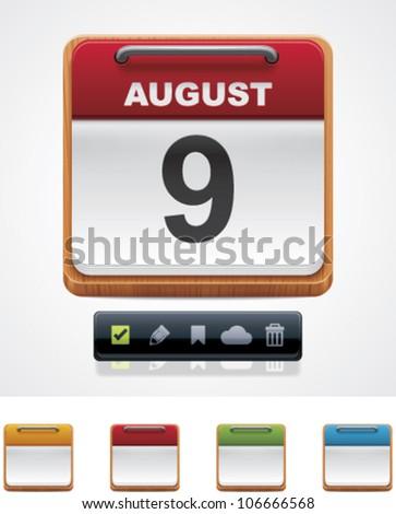 Vector calendar icon - stock vector