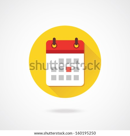 Vector Calendar Icon - stock vector