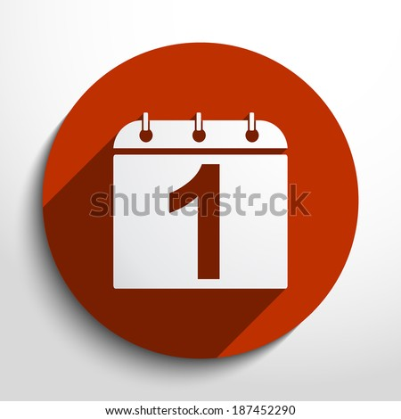 Vector calendar organizer web flat icon in circle - stock vector