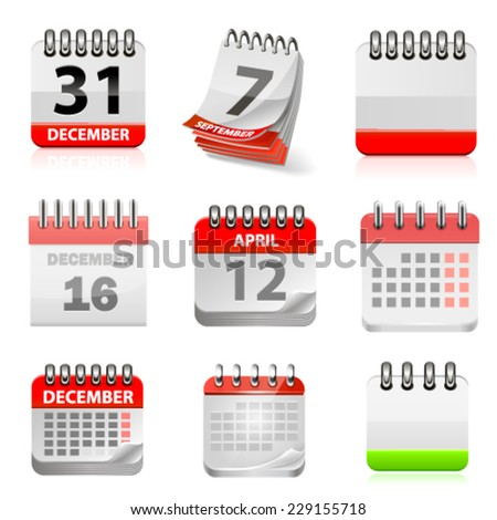 Vector calendar set. - stock vector