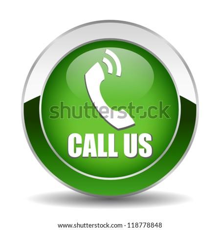 Vector call button - stock vector