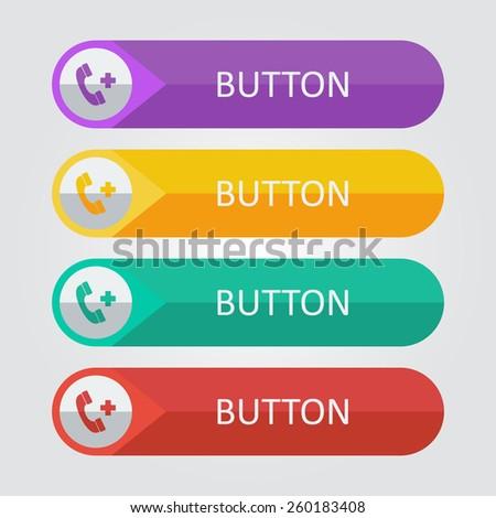 Vector call button. File format eps 10 - stock vector
