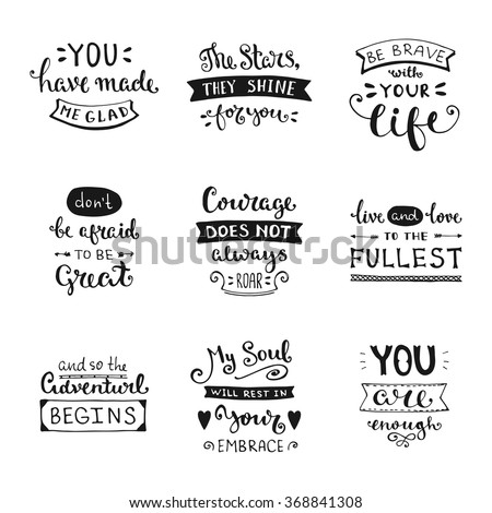 Vector calligraphy. Hand drawn lettering collection. Vintage illustration. - stock vector