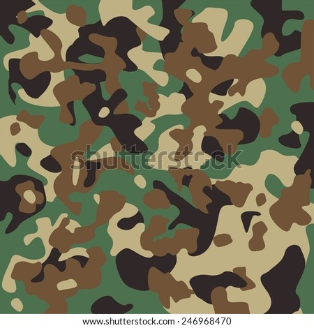 Vector camouflage pattern. US Woodland. - stock vector