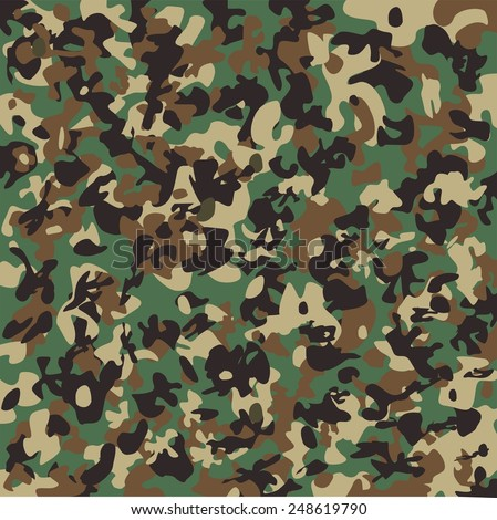 Vector camouflage pattern. Woodland. - stock vector