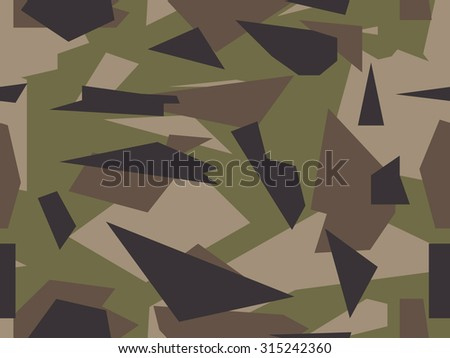 Vector camouflage series - US Multi Cam - stock vector
