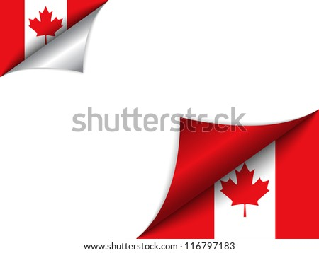 Vector - Canada Country Flag Turning Page