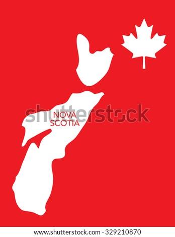 Vector Canadian Province Map - Nova Scotia - stock vector