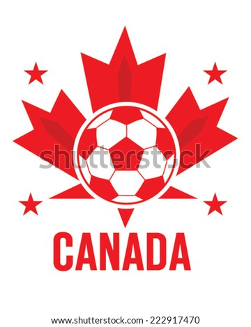Vector Canadian Soccer Icon and Emblem