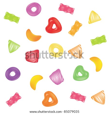 Vector candies jelly background - stock vector