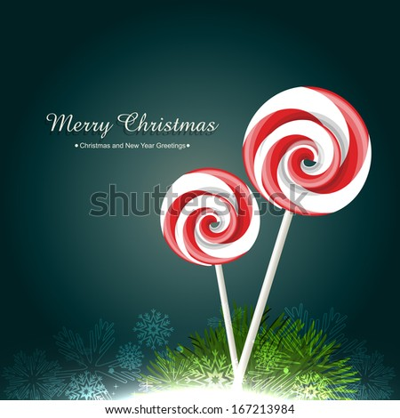 vector candy lollipop design illustration - stock vector