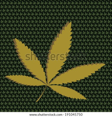 Vector Cannabis. - stock vector