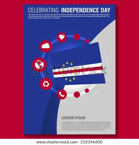 Vector Cape Verde Independence Day Flyer template. Creative Brochure Title Page. National Day Leaflet design element. vector illustration