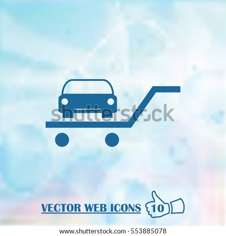 Vector car web Icon