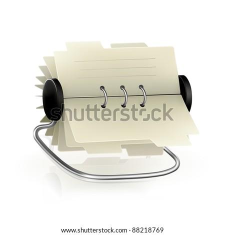 Vector card file - stock vector