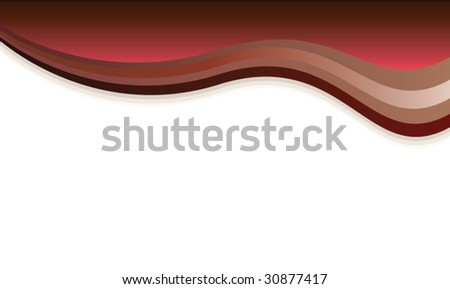 vector card of abstract wavy chocolate background
