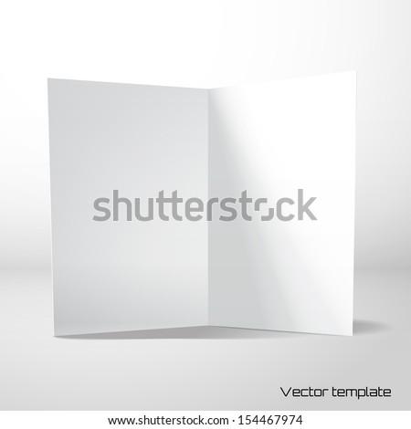 Vector card template. - stock vector