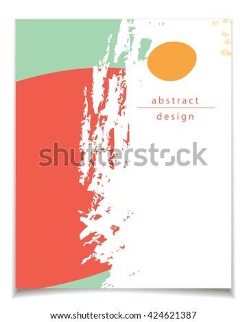 Vector card template with abstract design. Red, white and green color patterns for posters, greeting cards, flyers, web designs. Anniversary, holiday, wedding, business, birthday, party invitations.