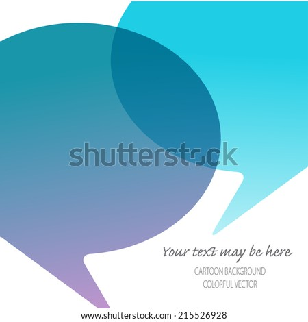 Vector card template with dialog elements. Eps10 - stock vector