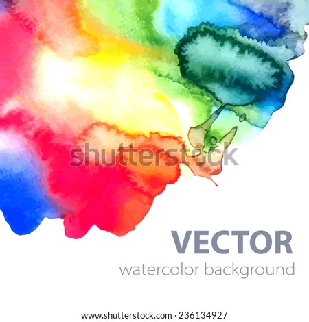 Vector card  template with watercolor elements. Eps10
