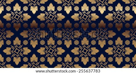 Vector card with gold pattern. Perfect for greetings, invitations and announcements.