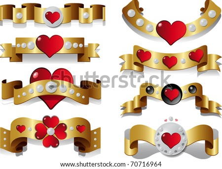 vector card with image of hearts in several sizes - stock vector