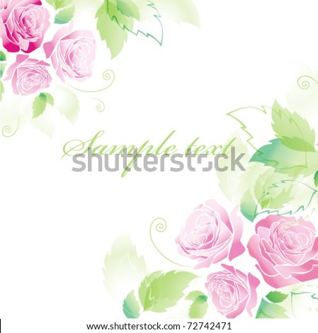 Vector card with rose - stock vector