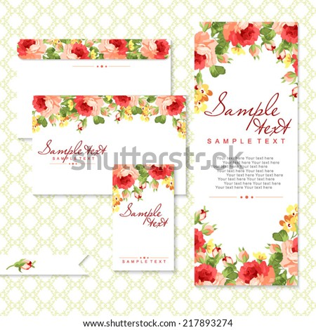 Vector card with roses