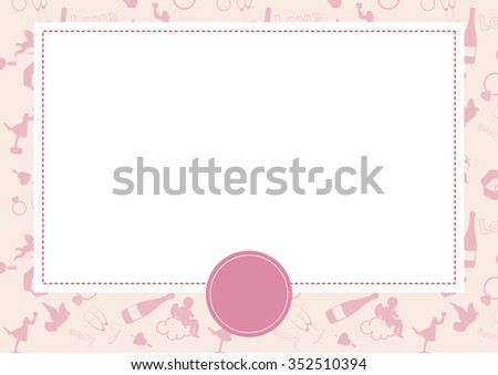 Vector card with Valentine background - stock vector