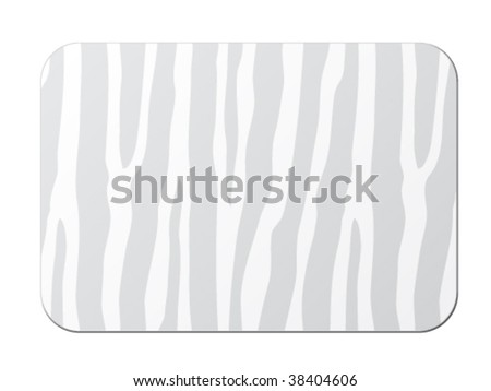 vector card with zebra pattern