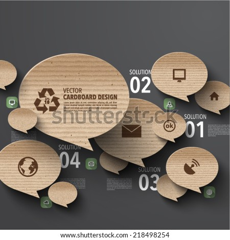 Vector Cardboard Graphics - stock vector